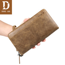 Dide handbag men's leather large capacity men's handbag cow leather handbag fashion retro leisure men's handbag mobile phone bag