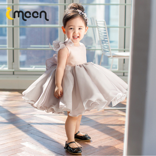 Sleeveless gauze dress children flower girl dress tutu skirt princess dress girls dress piano performances