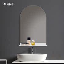 镜子卫生间储物定制洗手间镜挂墙式洗漱镜收纳厕所浴室镜带置物架