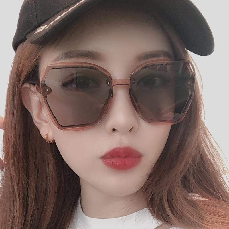 GM墨镜女防紫外线眼镜2019新款街拍太阳镜男士圆脸ins韩版网红