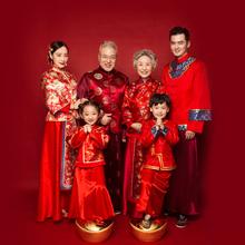 19新款儿童摄影主题服装影楼拍照全家福六口亲子装韩版时尚中国风