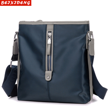 Oxford men's bag single shoulder bag recreational inclined bag fashion men's BAG canvas cross bag tide men's vertical small backpack