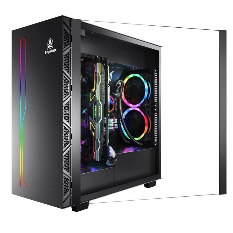 鑫谷开元K1电脑机箱ATX3.0侧透水冷游戏静音机箱台式电脑主机箱