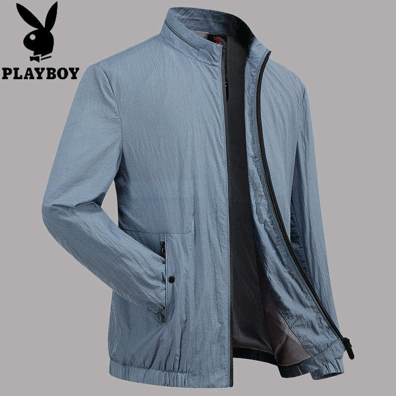 Dad summer mens sunscreen clothes ultra light and thin breathable middle-aged jacket spring and autumn outdoor sports jacket fishing