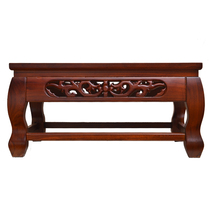 Imitation mahogany Chinese sculpture all solid wood kang table Elm tatami coffee table antique Tea table fluttering window table Low table