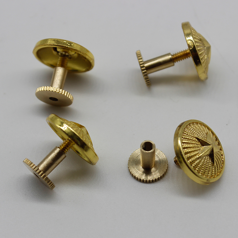 Package mail regular clothes epaulet screw cap button spring and autumn winter and summer golden student five pointed star button epaulet button button