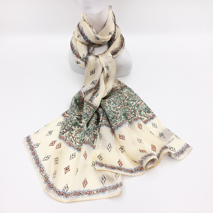 Foreign trade original single silk scarf star awn classic pattern creative combination printing womens mulberry silk scarf commuting scarves