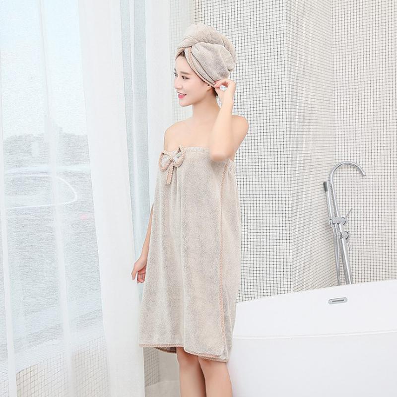 (用3元券)干发帽女擦头发速干吸水毛巾包头巾浴帽长发干发浴巾可裹浴裙套装