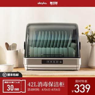 olayks 出口日本原款小型消毒柜家用42L迷你碗筷机台式桌面保洁柜图片