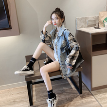 Reduced 20 denim waistcoat women's autumn 2019 new Korean version of loose jacket early spring and autumn ins women's wear