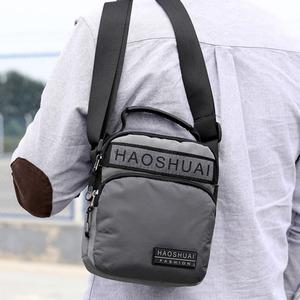 新款男士輕便小背包夏季零錢手機包多功能手提單肩斜挎包尼龍男包