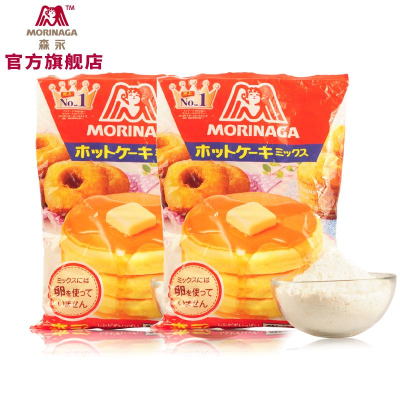 森永 DIY預拌粉鬆餅粉親子自製早餐烘焙原料蛋糕粉600g^~2袋