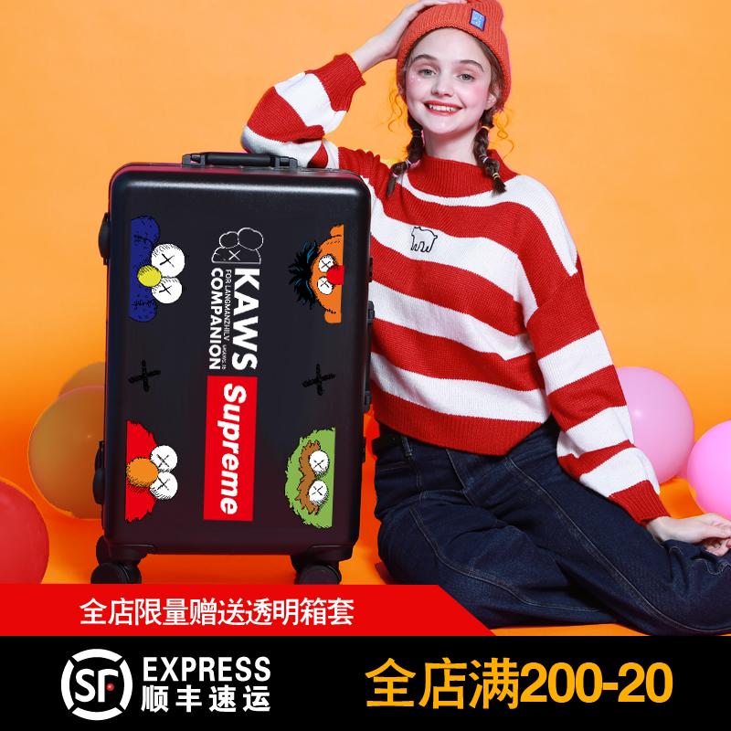 Sesame Street trunk tiktok ins net red bar box cartoon cartoon for men and women travel box
