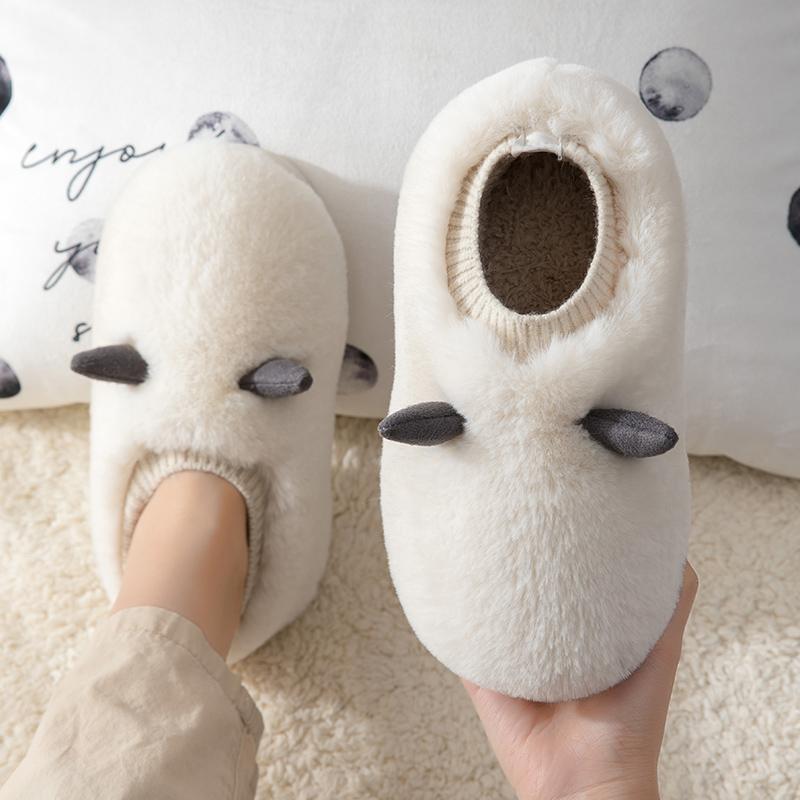 白色雪地靴女保暖鞋2020新款短靴百搭网红一脚蹬棉鞋女冬加绒加厚