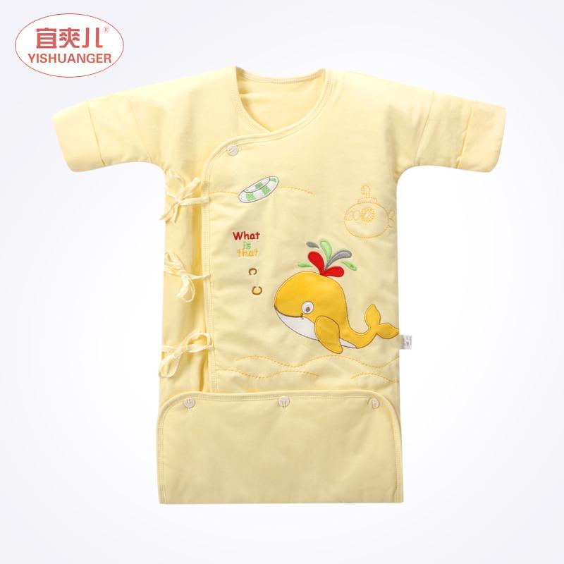 初生嬰兒睡袍男女寶寶信封式睡衣新生兒睡袋防踢被春秋 款薄棉
