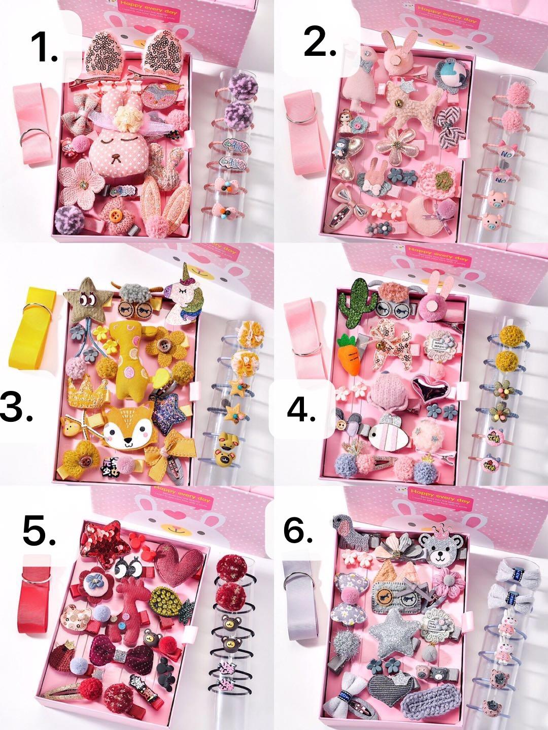 Childrens hair accessories girls headdress Korean Princess Baby hairpin super fairy cute baby hairpin 24 piece gift box