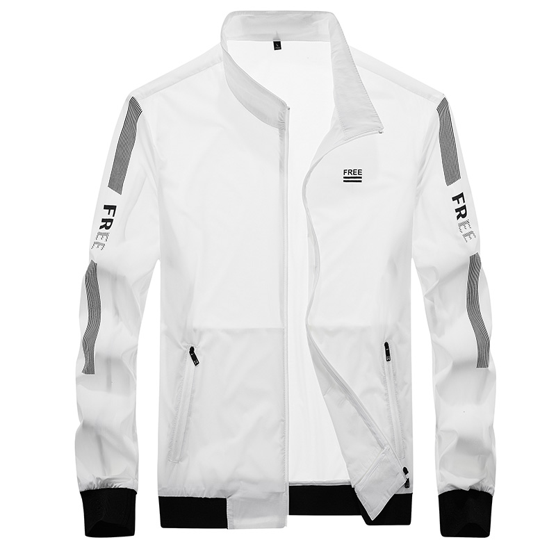 Spring skin clothes mens ultra thin ice silk Korean sports jacket spring and autumn youth large outdoor sunscreen coat