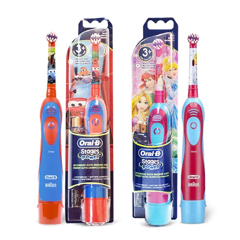 德國版oral~B歐樂B卡通兒童電動牙刷軟毛寶寶牙刷可替換刷頭