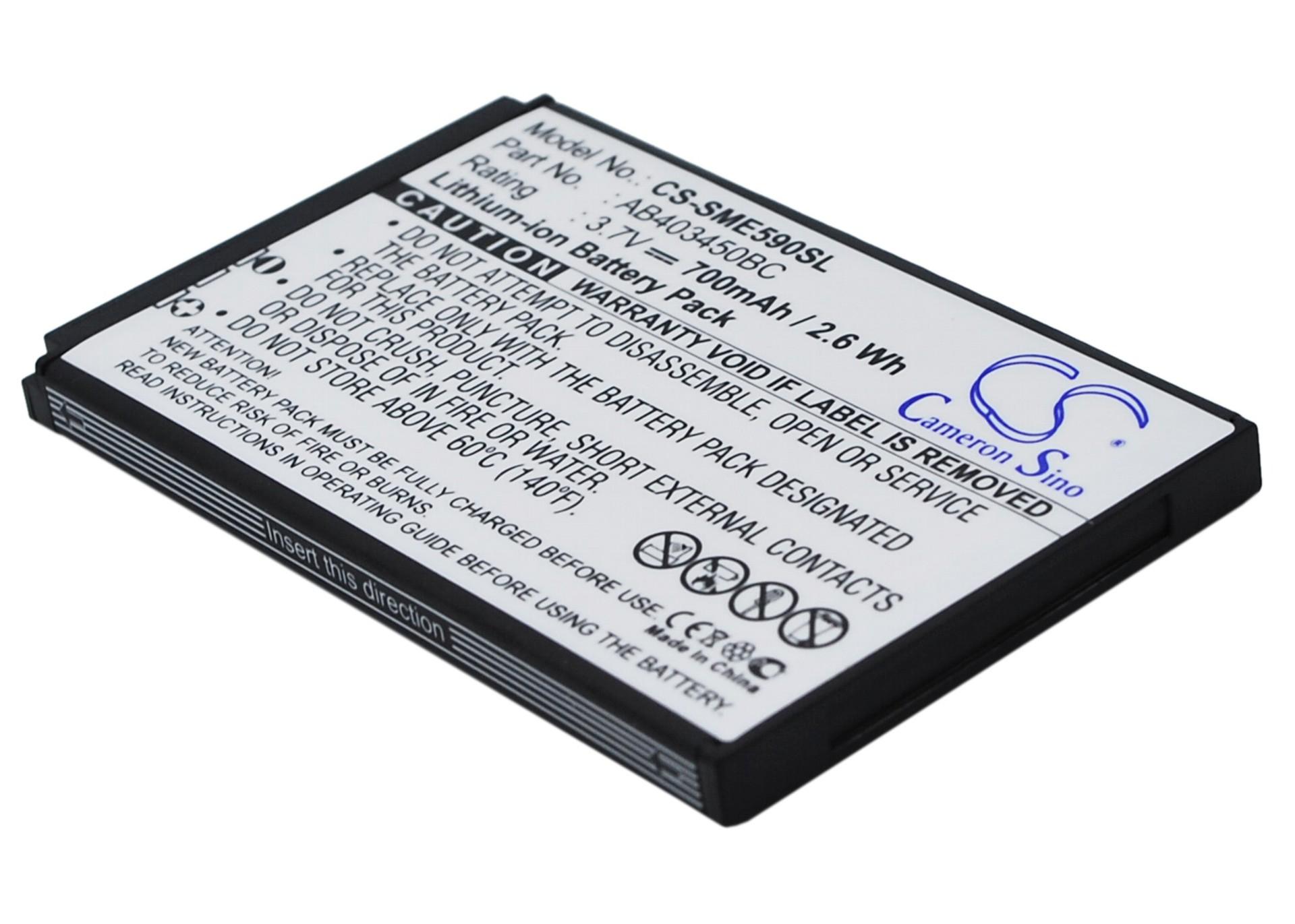 CameronSino适用三星 SGH-E590 SGH-E598手机电池AB403450BE