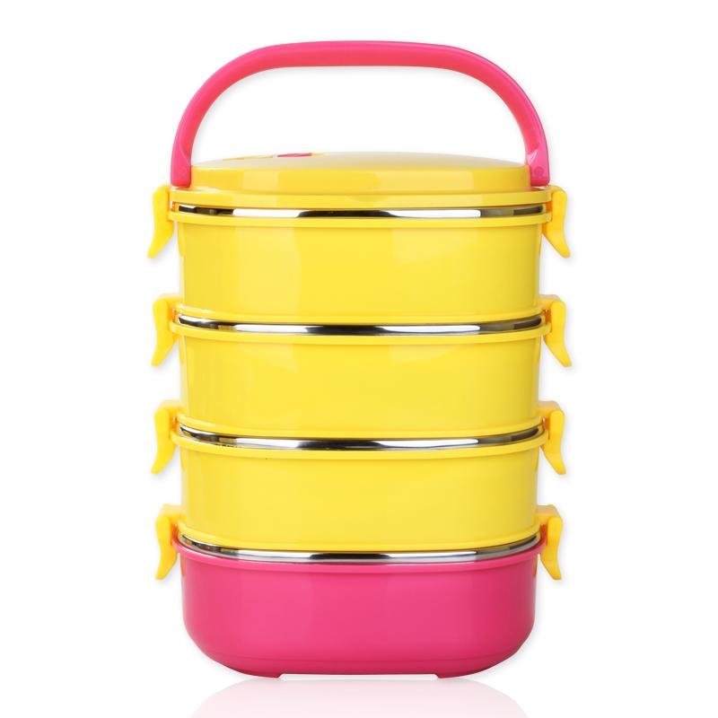 角拓者保溫飯盒 不鏽鋼3 4層保溫桶大容量餐盒便攜多層學生便當盒