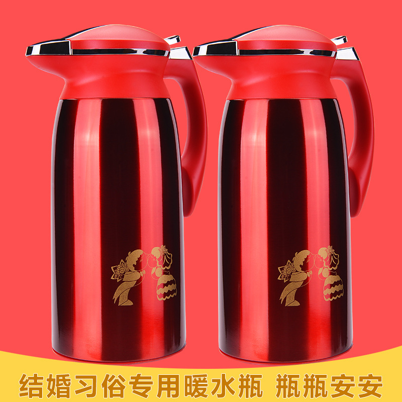 Выйти замуж свадьба сопровождать жениться красный нержавеющая сталь мощность теплый горшок теплый бутылка горячая вода горшок горячая вода бутылка сохранение тепла горшок сохранение тепла бутылка