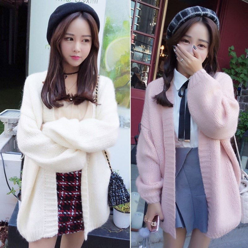 Short mid long sweater autumn and winter 145 Petite 150 with 140 womens high coat XS cardigan short