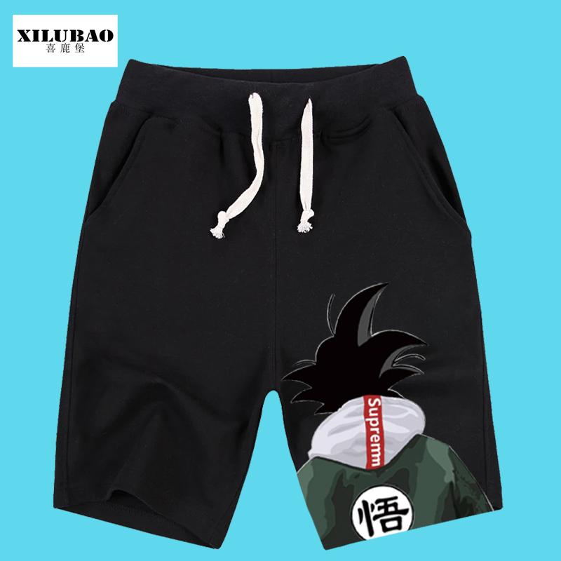 短裤男韩版潮流休闲男士短裤夏季宽松直筒悟空运动短裤潮五分裤男