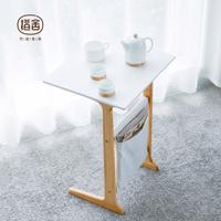 橙舍 现代简约小茶几多功能茶几桌竹实木沙发边几角几卧室小方桌