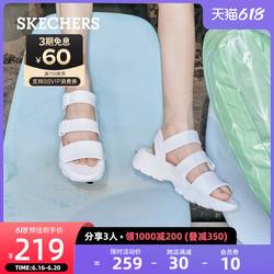Skechers斯凯奇泡泡熊猫2021新款厚底凉鞋休闲沙滩鞋拖鞋女夏外穿