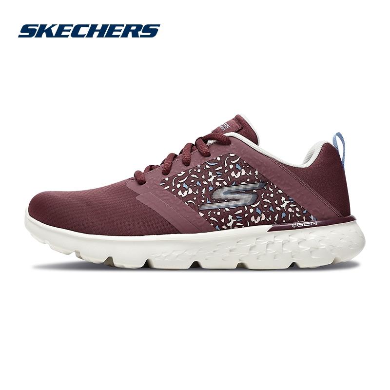 Skechers斯凯奇女鞋新款轻质时尚跑步跑鞋 透气网布运动鞋 15298