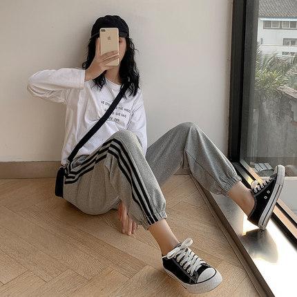 大码裤子女胖 mm 宽松运动裤图片
