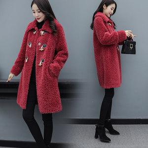 羊剪绒大衣女海宁皮草外套中长款2019新款冬季羊羔毛皮毛一体潮