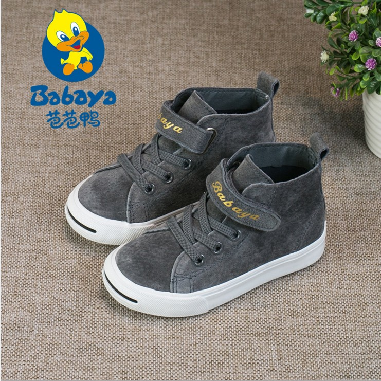 Barbara duck children shoes girls shoes high-top sneakers 2017 spring new Korean wave of casual shoes for boys