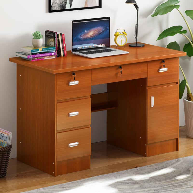 简约现代卧室电脑桌子写字台带抽屉式家用办公桌单人1.2米经济型
