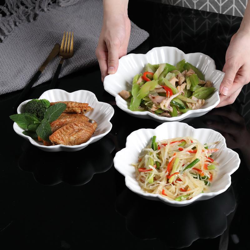 创意个性纯白家用西式甜品装菜碗