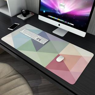 鼠标垫超大号简约现代文艺男女生办公室游戏电竞防水加厚写字桌垫