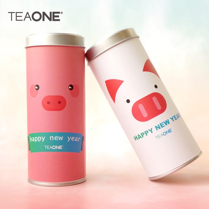 TEAONE 猪年限定罐装蜜桃乌龙,新年送朋友礼物