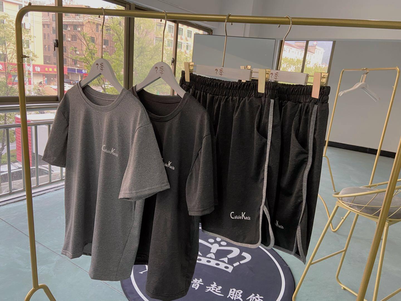 运动套装男短袖T恤宽松士速干衣短袖套装运动户外高弹力套装