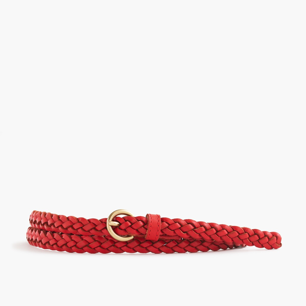 美国代购 j*crew 编织腰带 Skinny braided leather belt