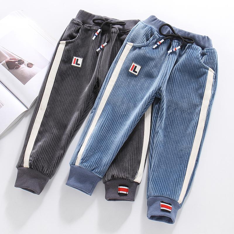 加绒外穿2三岁宝宝秋冬4男童裤子