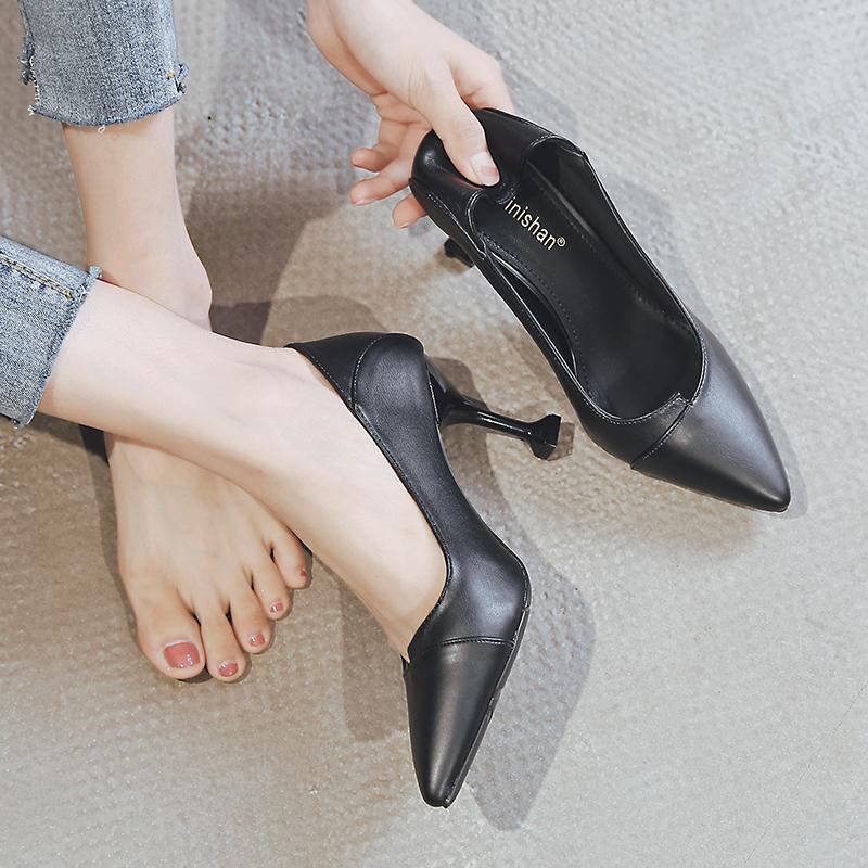 11-04新券鑫达芙妮丝真皮单鞋女高跟鞋皮鞋