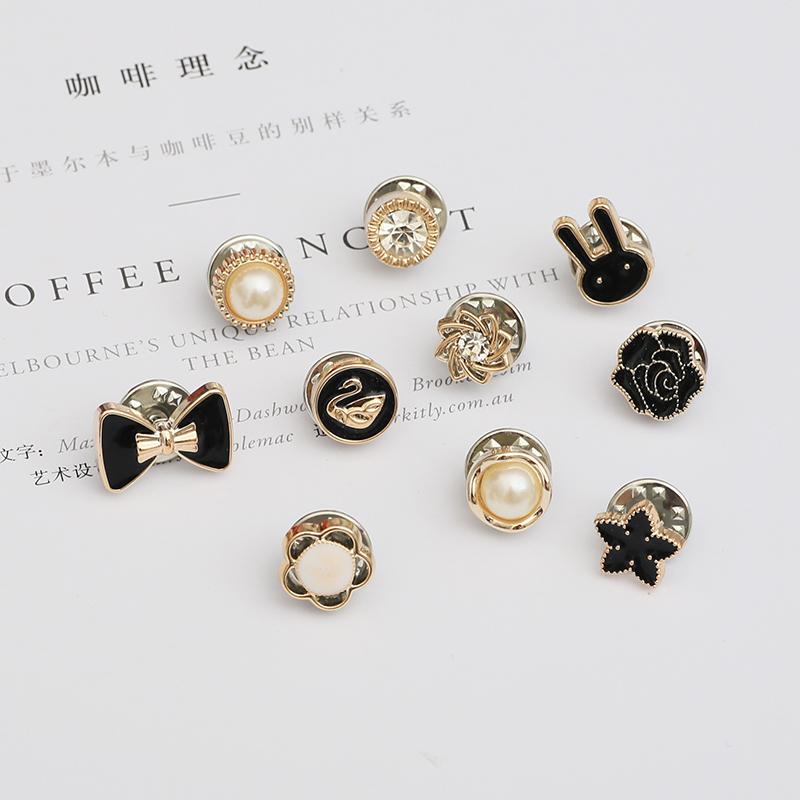 11月14日最新优惠韩国小胸针女开衫防走光扣装饰创意