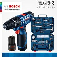 博世锂电手电钻GSB120家用冲击电动螺丝刀电动工具108件组合