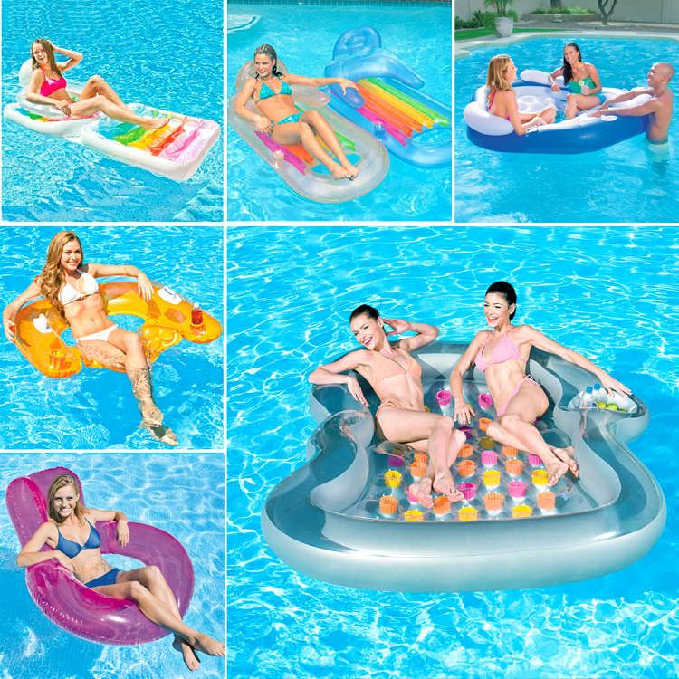 INTEX плавать моно,парный человек газированный поплавок кровать водный шезлонг плавающий воздушная подушка поплавок доска водный дрейф стул