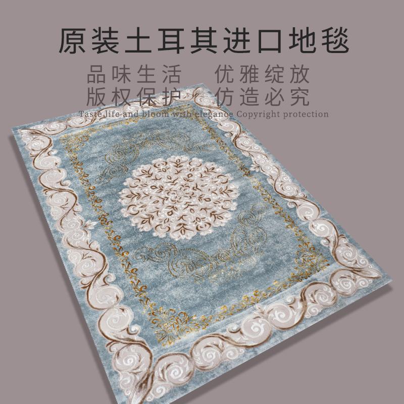 土耳其进口地毯轻奢新古典法式欧式北欧田园美式客厅茶几卧室地垫