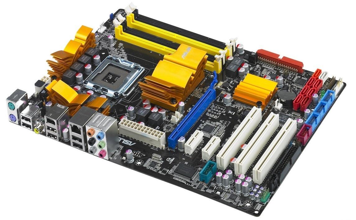 拆机ASUS全固态主板 华硕P5Q 大板P45 8相供电 支持775/DDR2