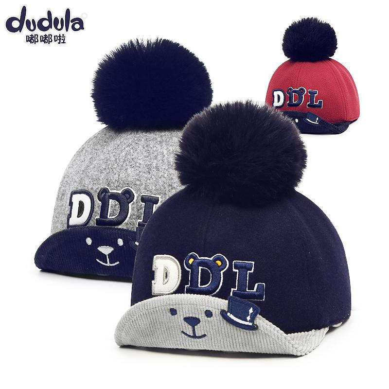韩版儿童帽子秋冬男童棒球帽女童鸭舌帽1-4岁宝宝遮阳翘舌帽6-12