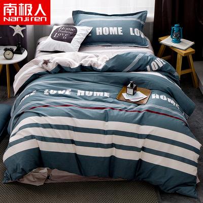 南极人全棉三件套单人床单被套学生宿舍寝室纯棉床上用品床品套件