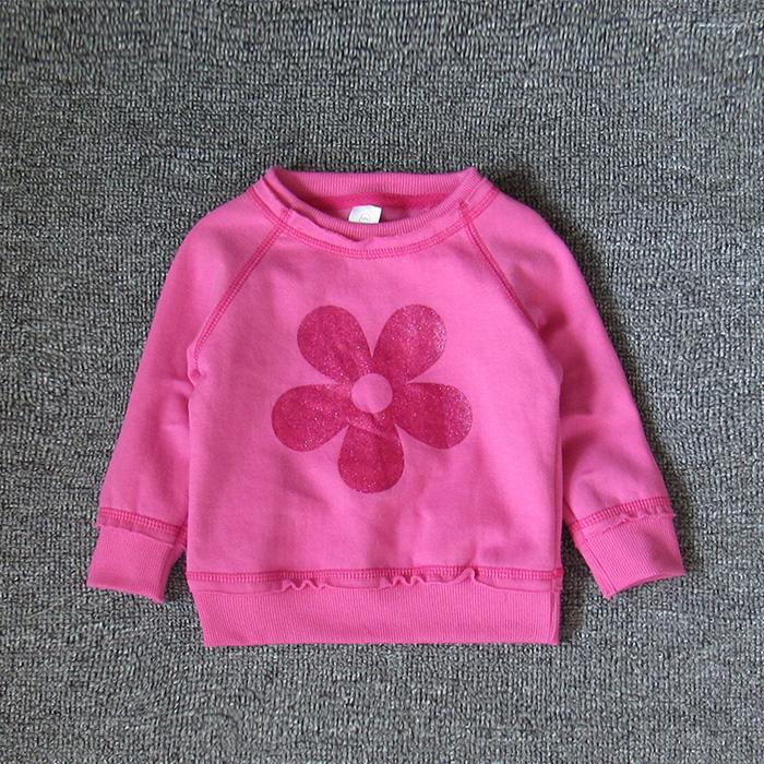 Качественный импортный товар ребенок куртка 1-3 лет девочки свитер ребенок хлопок тонкий демисезонный круглый вырез случайный пальто волна