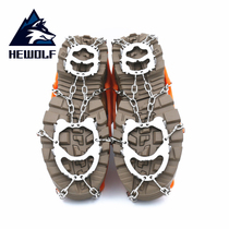 Male Wolf Ice Claw 12-toothed ice claw anti-skid shoe set chain mountaineering hiking big claw climbing winter fishing ice winter snow claw ice catch
